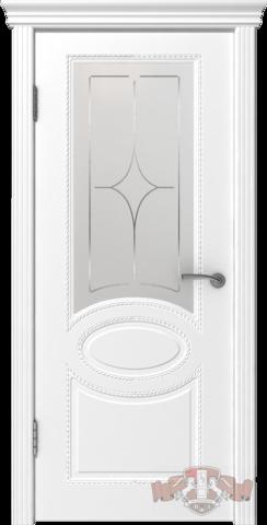 Дверь Владимирская фабрика дверей 29ДОО, цвет белая эмаль, остекленная