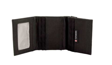 Бумажник Victorinox Lifestyle Accessories 4.0 Tri-Fold Wallet, чёрный, 9x3x10 см