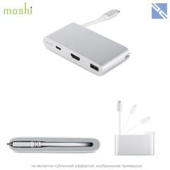 Разветвитель портов Moshi USB-C Multiport Adapter. Цвет: серебряный.