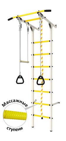 Шведская стенка (dsk с массажными ступенями) белый