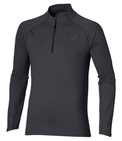 ASICS LS 1/2 ZIP JERSEY  мужская беговая рубашка серая