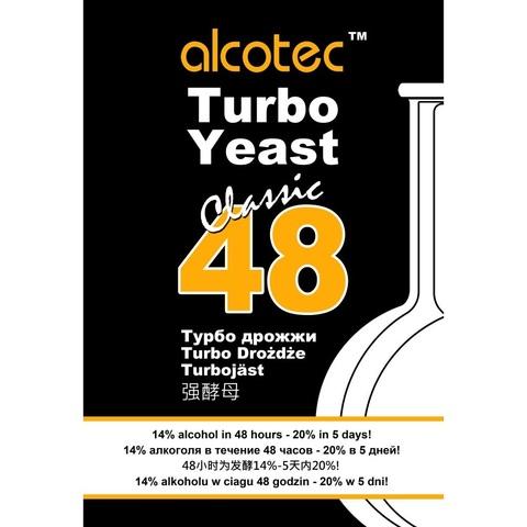 Турбо дрожжи Alcotec Pure 48 135 грамм на 25 литров браги до 21°