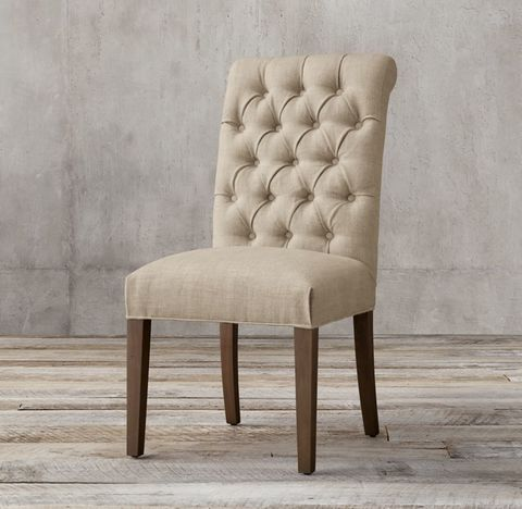 Bennett Roll-Back Fabric Side Chair