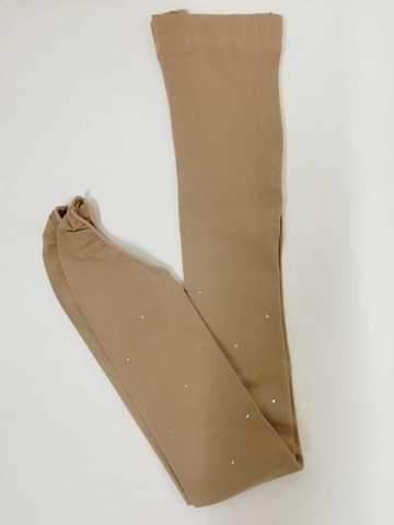 Колготки на каблук со стразами