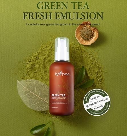 Освежающий увлажняющий лосьон с зеленым чаем, 120 мл / Isntree Green Tea Fresh Emulsion