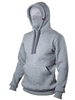 "Light grey insulated hoodie ""Phantom"""