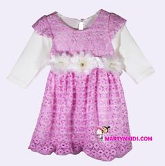 398  платье ажурный узор с рукавом