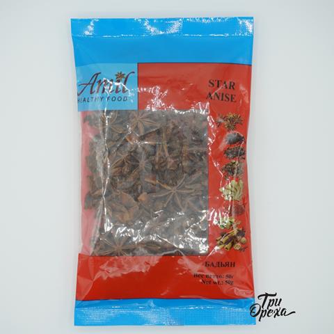 Бадьян (Анис звездчатый) AMIL, 50 гр