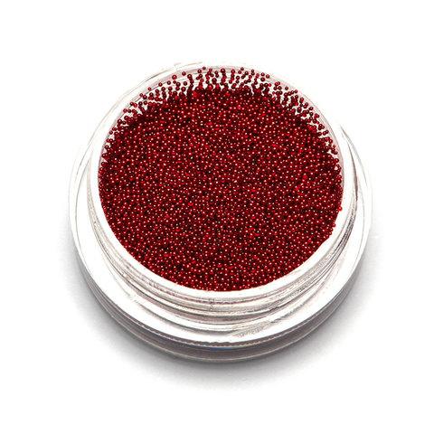 Бульонки супер мелкие - красные - 0,4 мм (3 гр.)