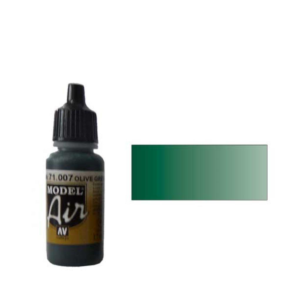 007 Краска Model Air Оливковый (Olive Green) укрывистый, 17мл