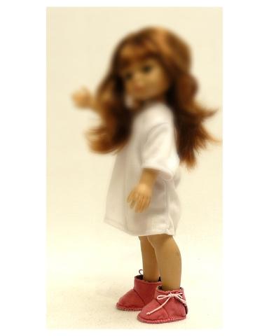 Сапожки из фетра на подкладке - На кукле. Одежда для кукол, пупсов и мягких игрушек.