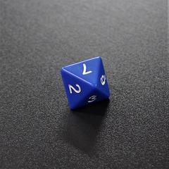 Синий восьмигранный кубик (d8) для ролевых и настольных игр