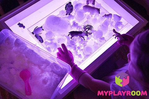 Световая песочница Myplayroom, с длинной крышкой 7