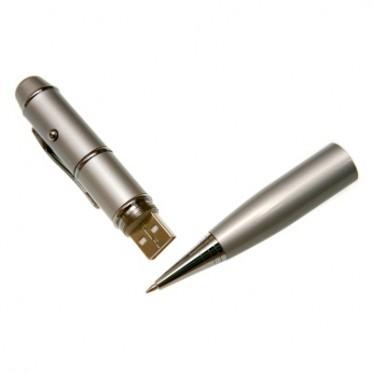 usb-флешка металлическая ручка с лазерной указкой