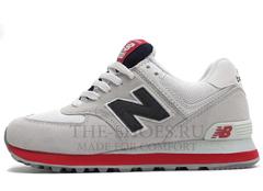 Кроссовки Женские New Balance 574 Grey White Red Black