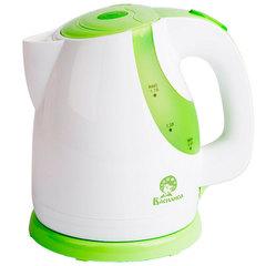 Чайник электрический 1,7л ВАСИЛИСА Т22-2200 белый с зеленым