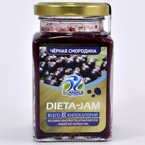 Джем диетический из черной смородины Biomeals, 230г