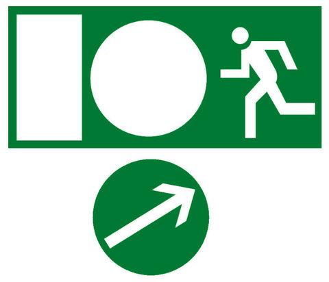 Знак направление движения к эвакуационному выходу налево