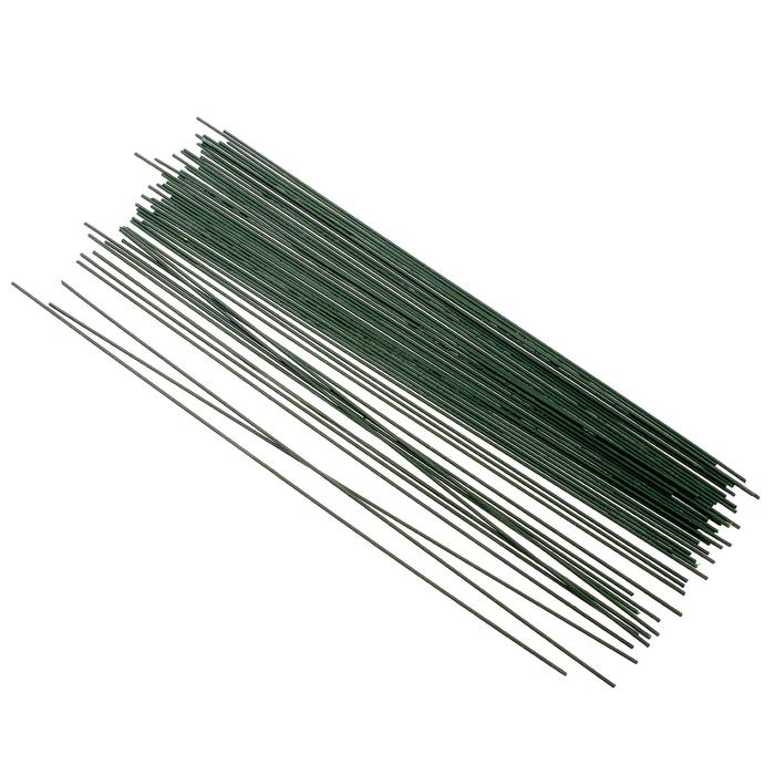 Проволока флористическая в пластике 2 мм, зеленая.