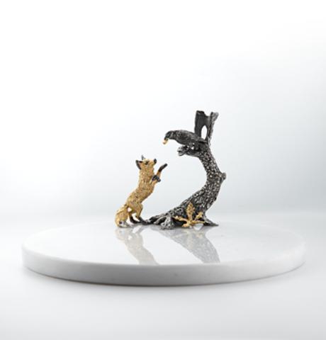 Доска с ножом для сыра «Ворона и лисица».