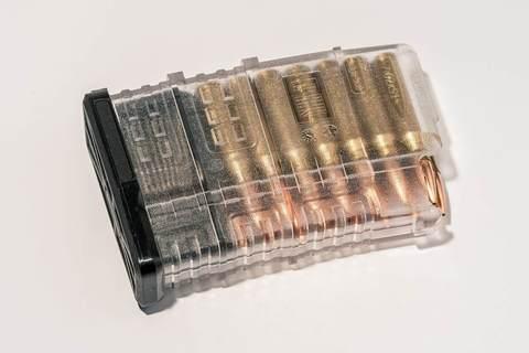 Магазин Pufgun Вепрь-308 на 15 патронов, прозрачный