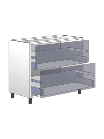Напольный шкаф c 2 ящиками, 720Х900 мм / PushToOpen