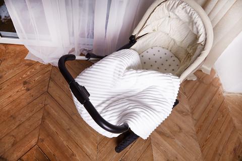 Постельное белье для коляски ПЛЮС Белый