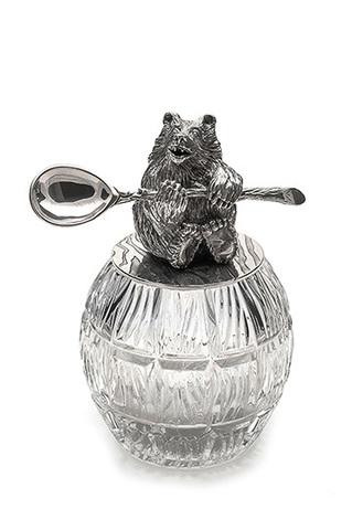 Кадушка с хрусталем «Медведь».