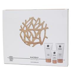 """Подарочный набор """"Комплексный уход"""" для лица, волос и тела, Naobay"""