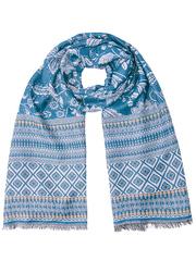 JS1607-1 палантин женский, синий