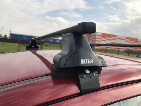 Багажник на крышу Nissan Almera N15 седан 1995-2000 за дверной проем прямоугольные дуги 120 см.