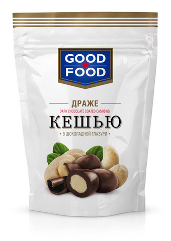 GOOD FOOD Кешью в шоколадной глазури 150г
