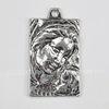 """Подвеска """"Мадонна"""" (цвет - античное серебро) 38х22 мм"""