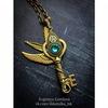 "Подвеска ""Ключик с сердцем"" 45х18 мм (цвет - античное золото) (Кулон ""Ключ"". Пример)"