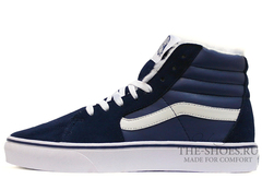 Кеды Vans Sk8-Hi Old Skool Dark Blue White (C Мехом)