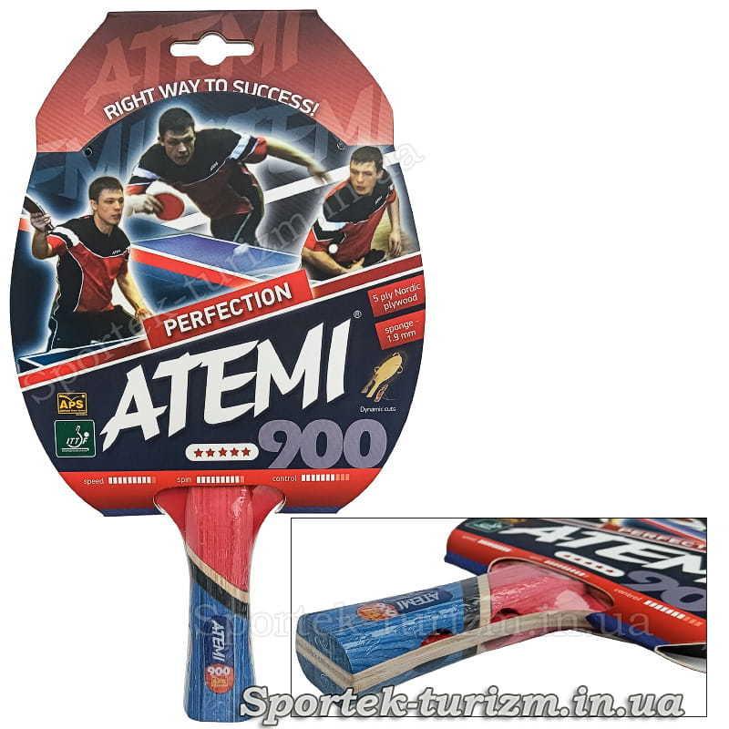 Ракетка для профессионалов настольного тенниса Atemi 900 Perfection