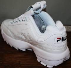 Модные женские кроссовки Fila Disruptor 2 all white RN-91175