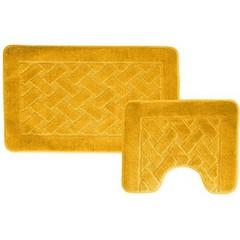 Набор ковриков для ванной BANYOLIN 55х90 см ворс, желтый