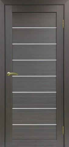 Дверь Optima Porte Турин 508.12, стекло матовое, цвет венге, остекленная