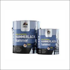 Эмаль молотковая на ржавчину Dufa Hammerlack (алюминиевая)