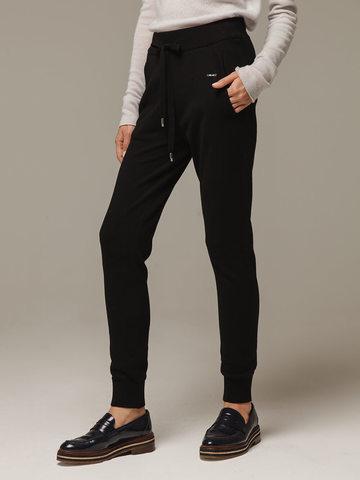 Женские черные брюки с карманами из шерсти и кашемира - фото 2