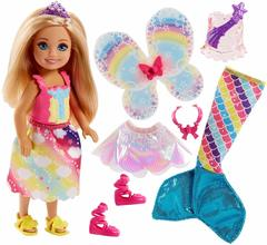Barbie Dreamtopia Rainbow Cove Chelsea Doll And Fashions Set, Blonde