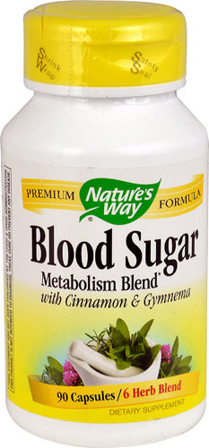 Здоровый уровень сахара в крови Nature's Way Blood Sugar Metabolism Blend with Cinnamon & Gymnema -- 90 Capsules Natures-Way-Blood-Sugar-Metabolism-Blend-with-Cinnamon-And-Gymnema-033674792001.jpg