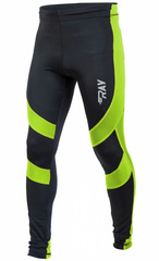 Тайтсы для бега Ray Elite Black-Lime