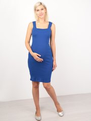 Евромама. Платье-майка для беременных и кормящих, василек
