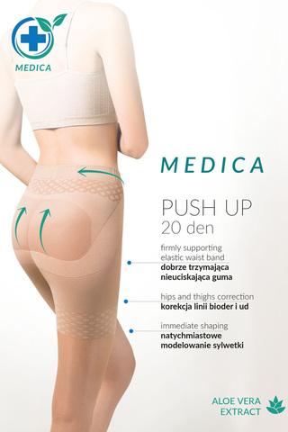 Черные колготки с эффектом утяжки и push-up Medica Push-Up 20 den