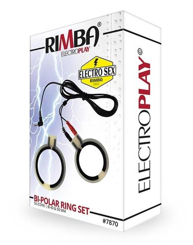 Электро-кольца для пениса, биполярные. (2 шт) - Rimba Electro Cock Rings, Bi-Polar, Round 2 Pcs