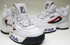 Кожаные кроссовки женские Fila Disruptor 2 FW01655-114