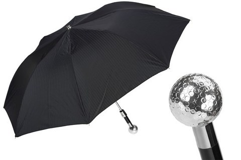 Зонт складной Pasotti Silver Golf Ball Folding Umbrella, Италия.