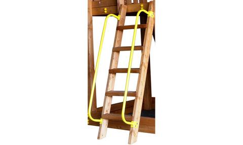 Перила металлические на деревянную лестницу